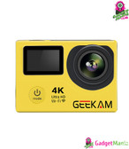 4K Double Screen WIFI Action Camera Yellow