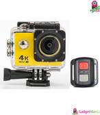 HD 4K WIFI Action Camera Yellow
