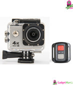 HD 4K WIFI Action Camera Silver Grey