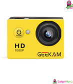 GEEKAM A9 HD 1080P Waterprof Camera Yellow