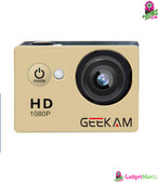 GEEKAM A9 HD 1080P Waterproof Camera Golded