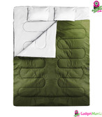 Idealhouse  2 Singles Sleeping Bags Deep gree