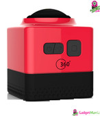 Mini Panoramic Wide Angle Action Camera Red