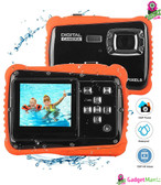 LCD Display Waterproof Action Camera - Red