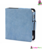 PU Leather Protective Case Frosted Blue