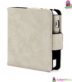 PU Leather Protective Case Creamy White