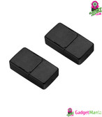 2 Pcs Black USB Charger for E-Cigarette
