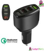 3-Port USB Car Charger Adapter Black