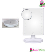 16 LEDs10X Makeup Magnifier Mirror White