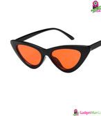 Retro Triangle Sunglasses Bright black