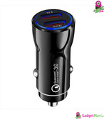 QC3.0 3.1A Fast Charge Car Charger - Black