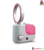 No-blade Fan Humidifier - Rose Red, US Plug