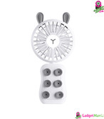 Portable USB Rechargeable Fan White