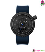 Oulm Men Business Silicone Wristwatch - Blue