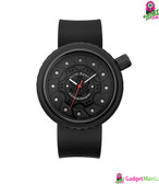 Oulm Men Business Silicone Wristwatch - Black