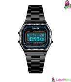 SKMEI Women Fashion Electronic Watch Black