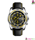 Men Fashion Luxury Quartz Wristwatch Yellow