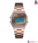 SKMEI Women Fashion Electronic Watch RoseGold