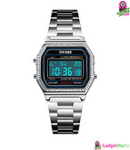 SKMEI Women Fashion Electronic Watch Silver