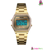SKMEI Women Fashion Electronic Watch Gold