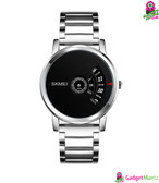 SKMEI Men Watch Silver Shell Black surface