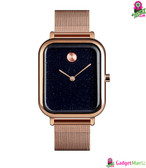 SKMEI Unisex Square Shape Quartz Watch Rose