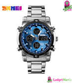 SKMEI Casual Sports Watch - Silver shell blue