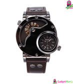 Oulm HP-9591 Men Quartz Watch - Coffee color