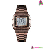 Men Luxury Watches Coffee Gold