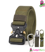 Men Tactical Belt Army Green