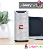 Bluetooth Portable Outdoor Loudspeaker-Silver