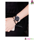 Men Women Watch Black