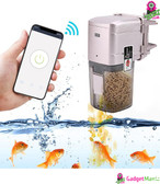 Automatic Fish Feeder Rose Pink L