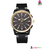 Men Business Quartz Watch - Black