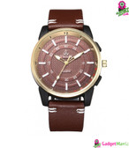 Men Business Quartz Watch - Brown