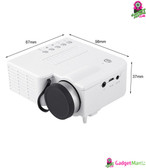 UC28A Mini LED Projector White US Plug