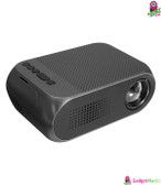 LEJIADA 1080P Mini Projector - Black US Plug