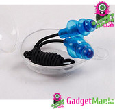Silicone Gel Corded String Ear Plugs   Blue