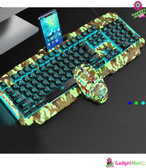 Gaming Keyboard Mouse Suit 0.9 Camouflage