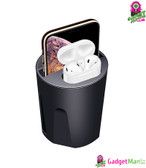 Wireless Car Charger Cup for iPhone Black