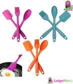 3pcs/set Silicone Spatula Spoon Brush Set