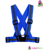 Unisex Adjustable Reflective Vest - Blue