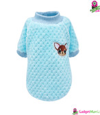 Cute Winter Dog Sweatshirt - Blue S Size