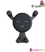 Smiley Face Gravity Car Mount Holder - Black