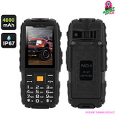 """Atomic Rhino"" No.1 Rugged Smartphone (charcoal) - 2.4"" DisplayWater + Dustproof"