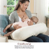 The mom preferred Bliss Nursing Pillow lifts baby to provide an ideal height for feeding, creating a better breastfeeding experience.