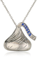 The Hershey's Kiss is an iconic sign of Love. Designed in Sterling Silver , this Medium Flat Back Hershey's Kiss Pendant with diamond accent (Color: H-I, Clarity: I2) shines as an expression of Love. The Kiss measures 15MM in height and 6MM at the base. 18 inch (16 inch with a 2 inch extension) sterling silver cable chain w/ spring lock. Included in this bundle you will also receive a Hershey's Kisses chocolate tin (Chocolate Included) as well as the official Hershey's Kiss Jewelry packaging. Give your loved one jewelry and chocolate this Valentine's Day.