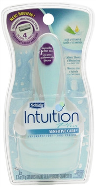 Schick Intuition Plus Sensitive Care Razor, Fragrance Free