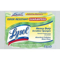 New from Lysol, odor resistant cellulose scrubber sponges. Antimicrobial treatment of the sponge and scrubber prevents the growth of odor causing bacteria on the sponge. These soft, absorbent sponges are great for scrubbing those baked on messes. The unique scrubber material works hard to tackle tough messes but rinses clean. These sponges may scratch (test first on an inconspicuous area).