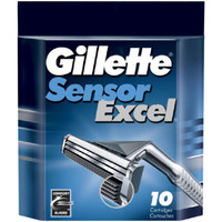 Gillette Cartridges 10 cartridges  Everybody wants a comfortable shave. With Gillette Cartridges you can get the shave you desire. The 10 cartridges have a self-adjusting, Sensor twin blade system to give you a close, comfortable shave. As the blade curves and adjusts to the shape of your face and details of your skin, they give you better a shave than the average blade.  Features & Benfits:  Fresh & comfort blades Self-adjusting twin blades Soft, protective microfins includes Automatically adjust to every curve of face